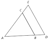Nested triangles example