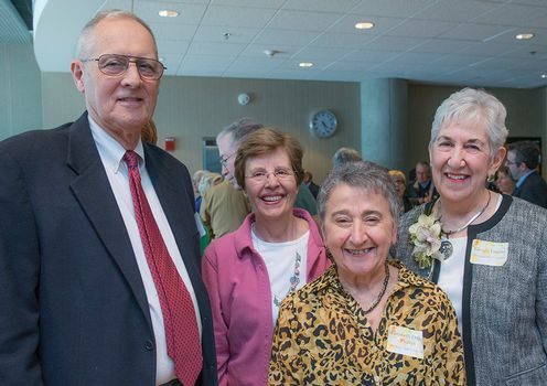 Photograph of James Fey, Susan Friel, Elizabeth Phillips and Glenda Lappan
