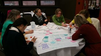 CMP Teachers examine student work