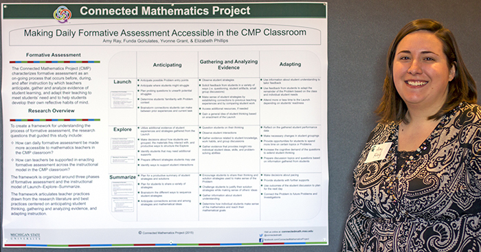 Amy Ray shows the Formative Assessment poster