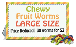 Chewy Fruit Worms