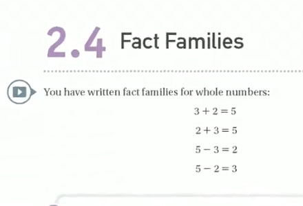 2.4 Fact Families